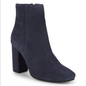 Brand New Seychelles Navy Wholesome Suede Booties